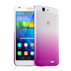 Funda Dura Plastico Rigida Transparente Gradient para Huawei Ascend G7 Rosa