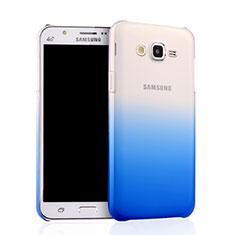 Funda Dura Plastico Rigida Transparente Gradient para Samsung Galaxy J7 SM-J700F J700H Azul