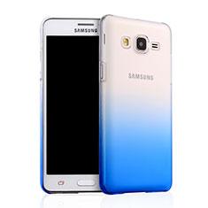 Funda Dura Plastico Rigida Transparente Gradient para Samsung Galaxy On5 G550FY Azul