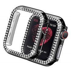 Funda Dura Rigida Lujo Diamante Brillante para Apple iWatch 5 44mm Negro