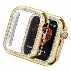 Funda Dura Rigida Lujo Diamante Brillante para Apple iWatch 5 44mm Oro