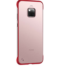 Funda Dura Ultrafina Carcasa Transparente Mate H01 para Huawei Mate 20 Pro Rojo