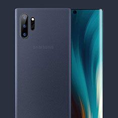 Funda Dura Ultrafina Carcasa Transparente Mate U01 para Samsung Galaxy Note 10 Plus 5G Azul