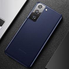 Funda Dura Ultrafina Carcasa Transparente Mate U01 para Samsung Galaxy S21 5G Azul