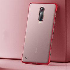 Funda Dura Ultrafina Carcasa Transparente Mate U01 para Xiaomi Mi 9T Rojo