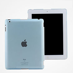 Funda Dura Ultrafina Transparente Mate para Apple iPad 3 Azul Cielo