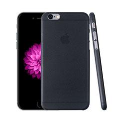 Funda Dura Ultrafina Transparente Mate para Apple iPhone 6 Gris Oscuro