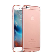 Funda Dura Ultrafina Transparente Mate para Apple iPhone 6 Oro Rosa