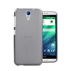 Funda Dura Ultrafina Transparente Mate para HTC Desire 820 Mini Gris