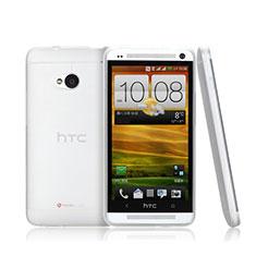 Funda Dura Ultrafina Transparente Mate para HTC One M7 Blanco