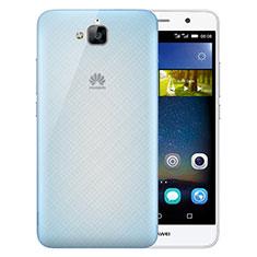 Funda Dura Ultrafina Transparente Mate para Huawei Y6 Pro Azul