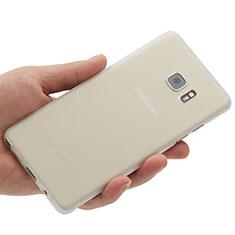 Funda Dura Ultrafina Transparente Mate para Samsung Galaxy Note 7 Blanco
