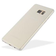 Funda Dura Ultrafina Transparente Mate T01 para Samsung Galaxy Note 7 Blanco