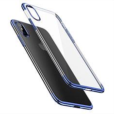 Funda Dura Ultrafina Transparente para Apple iPhone X Azul
