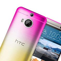 Funda Gel Ultrafina Transparente Gradiente para HTC One M9 Plus Rosa