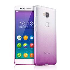 Funda Gel Ultrafina Transparente Gradiente para Huawei Honor Play 5X Morado