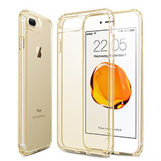 Funda Gel Ultrafina Transparente para Apple iPhone 8 Plus Oro