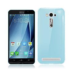 Funda Gel Ultrafina Transparente para Asus Zenfone 2 Laser ZE500KL ZE550KL Azul