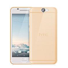 Funda Gel Ultrafina Transparente para HTC One A9 Oro