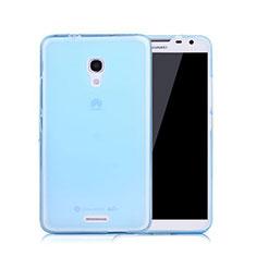 Funda Gel Ultrafina Transparente para Huawei Ascend Mate 2 Azul
