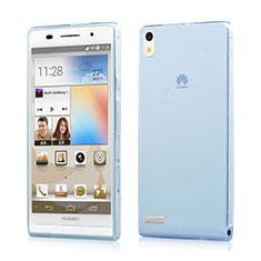 Funda Gel Ultrafina Transparente para Huawei Ascend P6 Azul