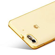 Funda Gel Ultrafina Transparente para Huawei G Play Mini Oro