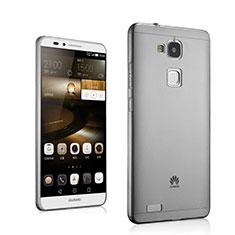 Funda Gel Ultrafina Transparente para Huawei Mate 7 Gris