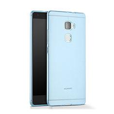Funda Gel Ultrafina Transparente para Huawei Mate S Azul