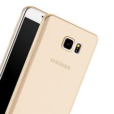 Funda Gel Ultrafina Transparente para Samsung Galaxy Note 5 N9200 N920 N920F Oro