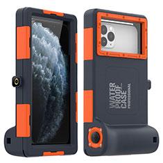 Funda Impermeable Bumper Silicona y Plastico Waterproof Carcasa 360 Grados Cover para Apple iPhone 11 Pro Max Naranja