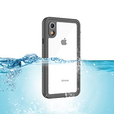 Funda Impermeable Bumper Silicona y Plastico Waterproof Carcasa 360 Grados para Apple iPhone XR Negro