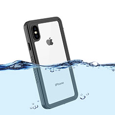 Funda Impermeable Bumper Silicona y Plastico Waterproof Carcasa 360 Grados para Apple iPhone Xs Max Negro