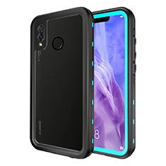 Funda Impermeable Bumper Silicona y Plastico Waterproof Carcasa 360 Grados para Huawei P20 Lite Azul Cielo