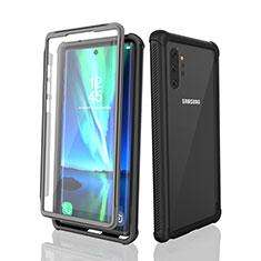 Funda Impermeable Bumper Silicona y Plastico Waterproof Carcasa 360 Grados para Samsung Galaxy Note 10 Plus Negro
