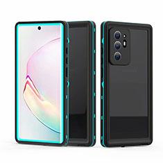Funda Impermeable Bumper Silicona y Plastico Waterproof Carcasa 360 Grados para Samsung Galaxy Note 20 Ultra 5G Cian