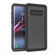 Funda Impermeable Bumper Silicona y Plastico Waterproof Carcasa 360 Grados para Samsung Galaxy S10 Negro