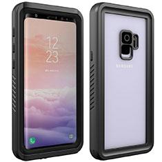 Funda Impermeable Bumper Silicona y Plastico Waterproof Carcasa 360 Grados para Samsung Galaxy S9 Negro