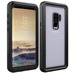 Funda Impermeable Bumper Silicona y Plastico Waterproof Carcasa 360 Grados para Samsung Galaxy S9 Plus Negro