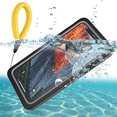 Funda Impermeable Bumper Silicona y Plastico Waterproof Carcasa 360 Grados U01 para Apple iPhone 11 Negro