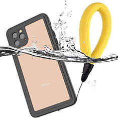 Funda Impermeable Bumper Silicona y Plastico Waterproof Carcasa 360 Grados U01 para Apple iPhone 11 Pro Negro
