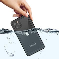 Funda Impermeable Bumper Silicona y Plastico Waterproof Carcasa 360 Grados W01 para Apple iPhone 11 Pro Max Negro