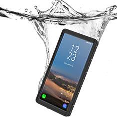 Funda Impermeable Bumper Silicona y Plastico Waterproof Carcasa 360 Grados W01 para Samsung Galaxy Note 10 5G Negro