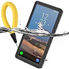 Funda Impermeable Bumper Silicona y Plastico Waterproof Carcasa 360 Grados W01 para Samsung Galaxy Note 10 Plus 5G Negro