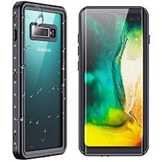 Funda Impermeable Bumper Silicona y Plastico Waterproof Carcasa 360 Grados W01 para Samsung Galaxy S10 Plus Negro