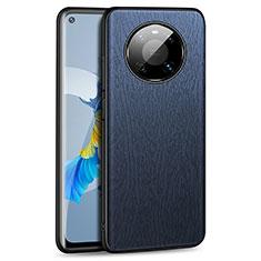 Funda Lujo Cuero Carcasa K01 para Huawei Mate 40 Azul