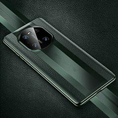 Funda Lujo Cuero Carcasa K01 para Huawei Mate 40 Pro Verde Noche