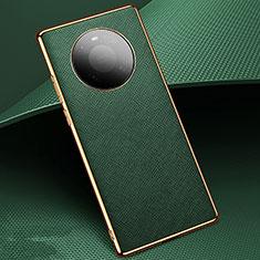 Funda Lujo Cuero Carcasa K02 para Huawei Mate 40 Pro Verde