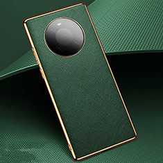 Funda Lujo Cuero Carcasa K02 para Huawei Mate 40 Verde