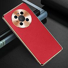 Funda Lujo Cuero Carcasa K03 para Huawei Mate 40 Rojo