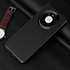 Funda Lujo Cuero Carcasa K06 para Huawei Mate 40 Pro Negro